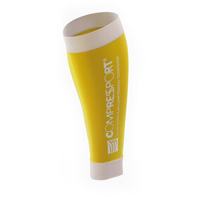 Compressport R2 Manicotti/Gambali giallo
